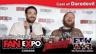 Daredevil's Charlie Cox & Elden Henson Fan Expo Canada