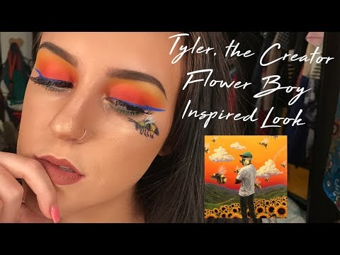 TYLER, THE CREATOR SCUM F*** FLOWER BOY INSPIRED MAKEUP LOOK - TUTORIAL