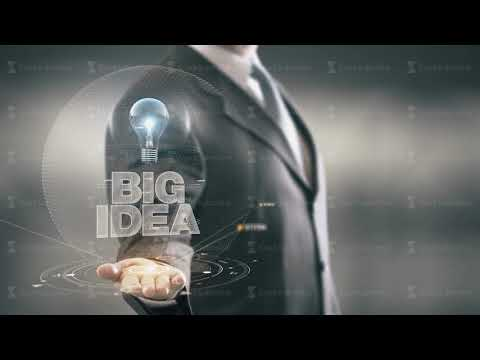 Big Idea Businessman Holding in Hand New technologies