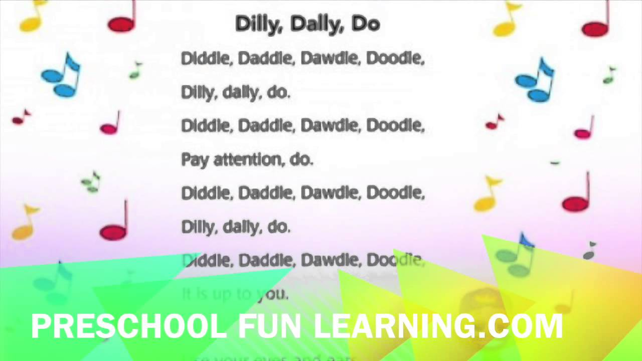Dilly Dally Do Song Preschool Fun Learning Music