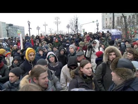 Протестное шествие в
