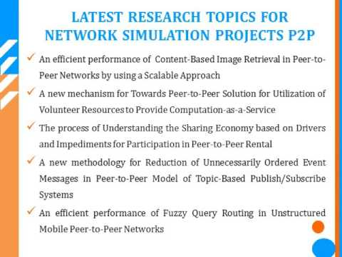 NETWORKING simulation project p2p