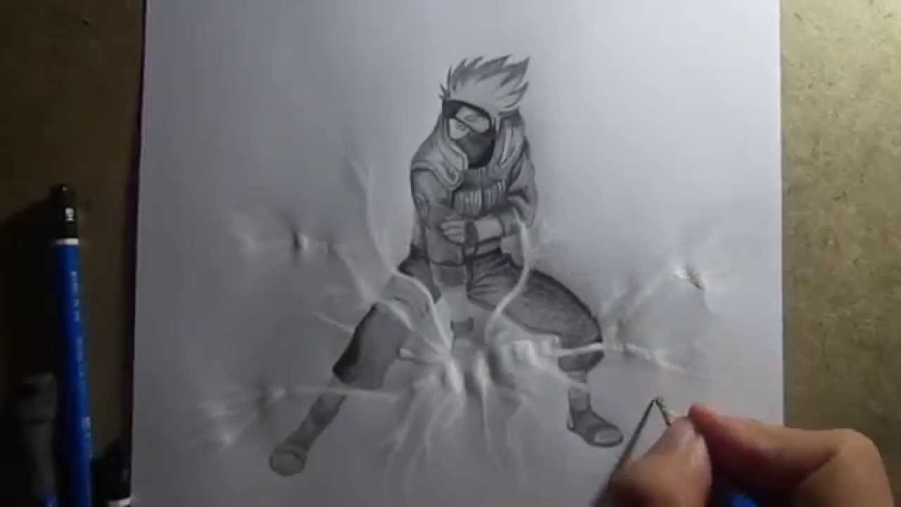 Pencil drawing kakashi hatake naruto youtube for 3d drawing online no download