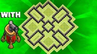 Clash of Clans - th7 farming base / dark elixir farming base / speed build