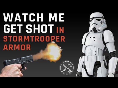 Watch Me Get Shot In Bulletproof 3D Printed Stormtrooper Armor
