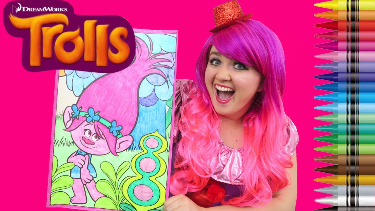 Coloring Trolls Poppy Dreamworks Trolls GIANT Coloring Book Page ...