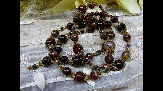 Бусы с натуральными камнями: мои украшения, переделки, покупки, подарки, … Бусы в коричневых тонах.