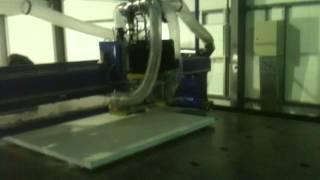 Установка обработки сендвич панелей