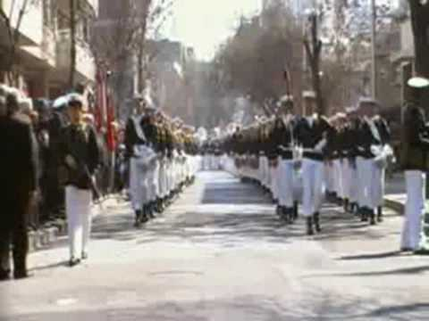 Bandas de la Armada en Santiago.