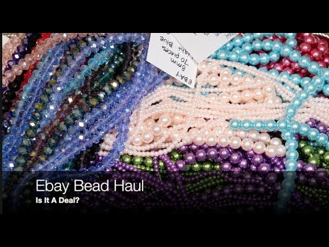 Ebay Bead Haul , is it a deal? for polymer clay and beadwork