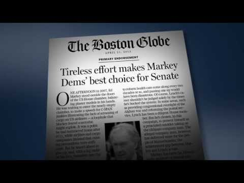 Ed Markey for MA | TV Ad: Endorsed by The Boston Globe