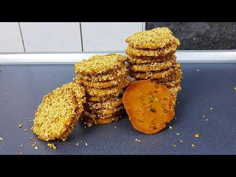 Barazek برازق - Sesamkekse - arabische Butterkekse - mit Sesam & Pistazien [deutsch]