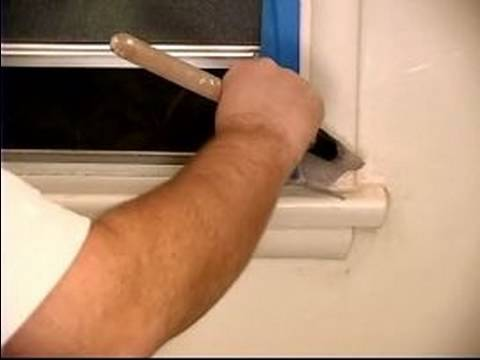 How to Paint a Bathroom with Oil Based Paint : How to Tape & Spot Prime Before Painting a Bathroom