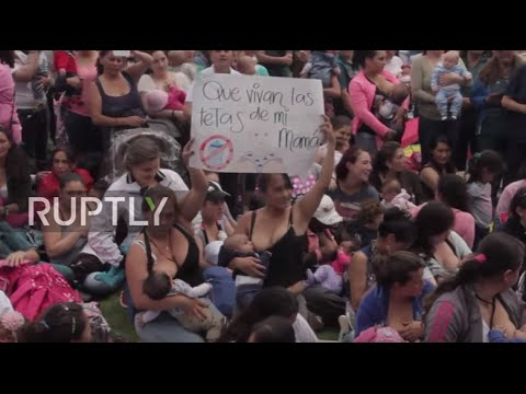 Colombia: 2,000 women celebrate World Breastfeeding Week in Bogota *EXPLICIT*