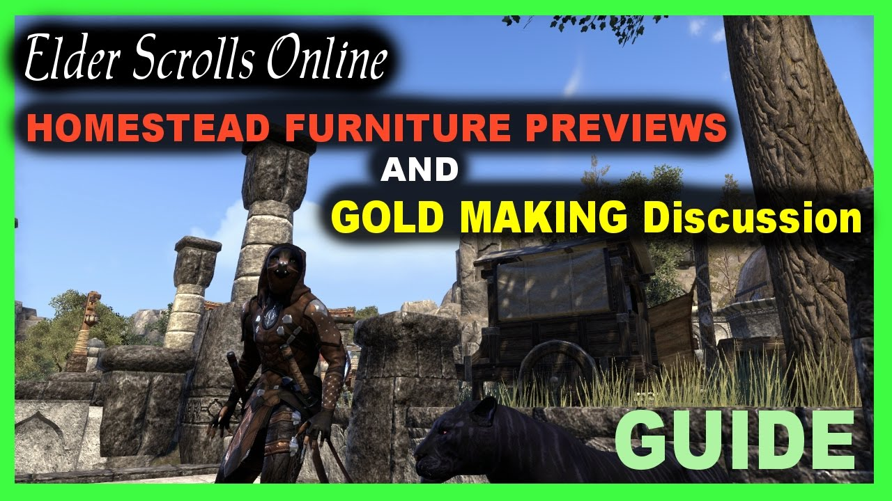 Eso homestead furniture recipe previews and gold making for Homestead furniture eso