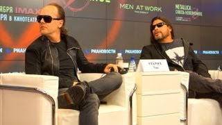 Metallica: Through The Never Press Conference: Lars Ulrich, Robert Trujillo