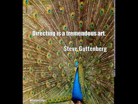 Steve Guttenberg: Directing is a tremendous art....