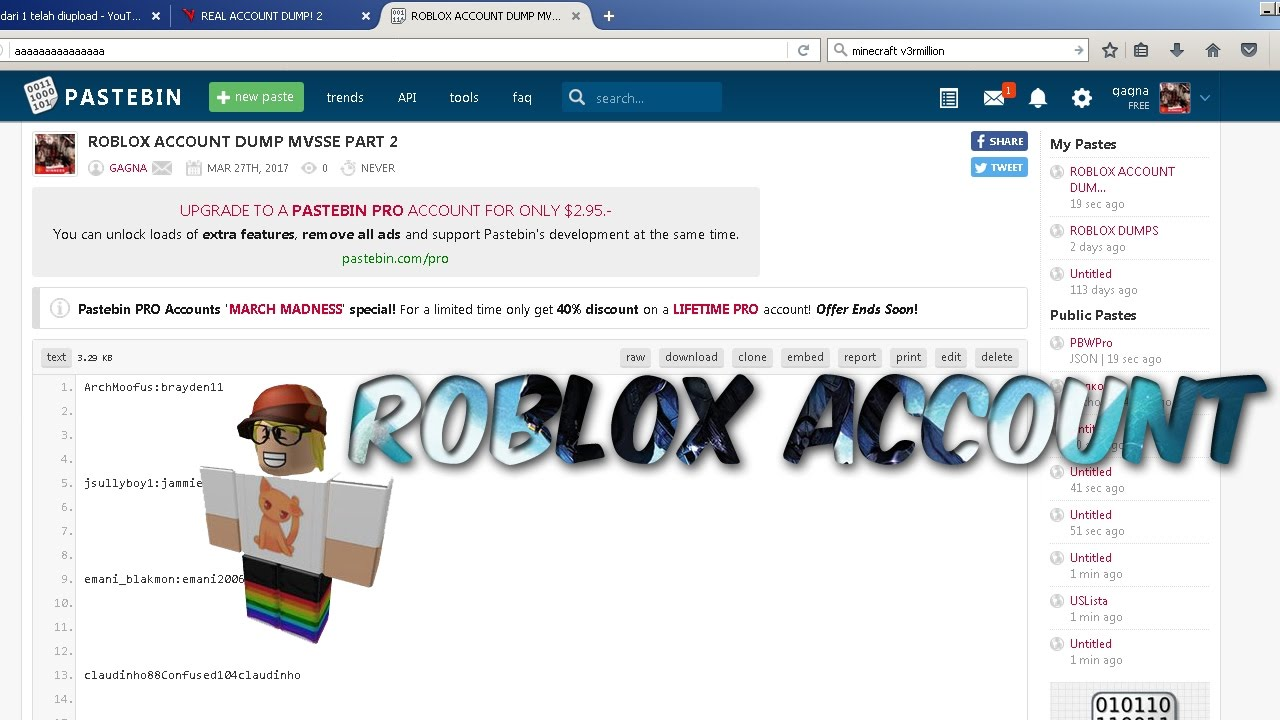 NEW ROBLOX ACCOUNT [MARCH 28] [NOT CLICKBAIT] [PART2]