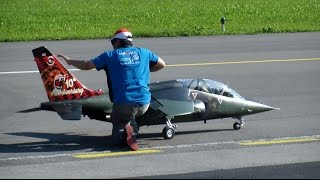 RC SCALE Dassault Dornier Alpha Jet TEAM THAILAND on the JWM Meiringen AFB