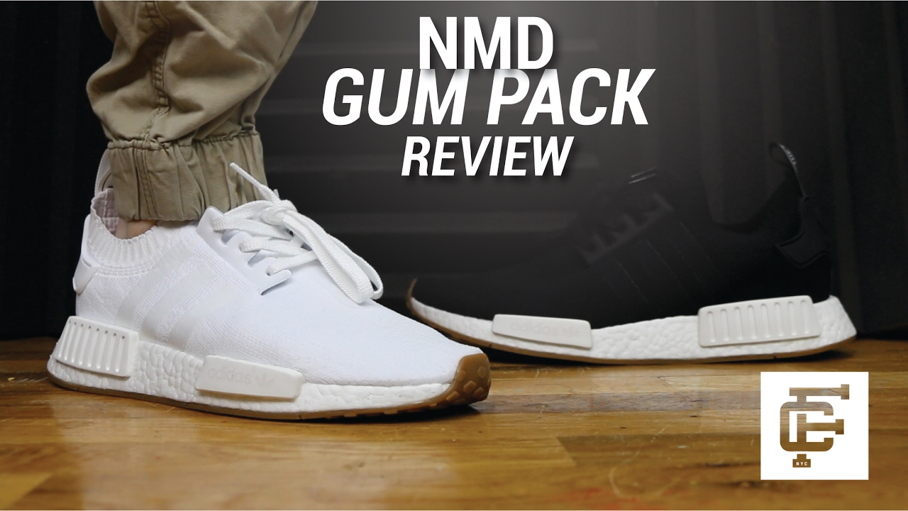 the best attitude 804ab 32979 ADIDAS NMD GUM PACK REVIEW - YouTube