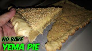 YEMA PIE with peanut  No Bake Yema Pie  Eggless Pie Crust  No Bake Pie Crust  YEMA PIE