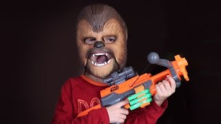 Great Disney Star Wars Toys - Nerf Chewbacca Crossbow and Cool Electronic Mask