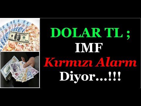 DOLAR TL ; IMF KIRMIZI ALARM DİYOR...!!!