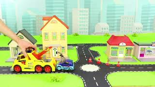 Garbage Trucks, Tractor, Fire Truck, Police Cars, Excavator & Train Construction Kids Toy Vehicles