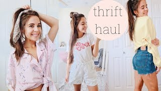 TRY ON THRIFT HAUL // lots & lots of clothes