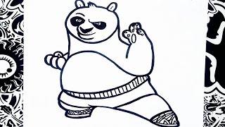 como dibujar a kung fu panda | how to draw kung fu panda