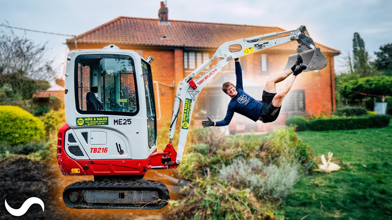 Download Destroying my garden with a digger!