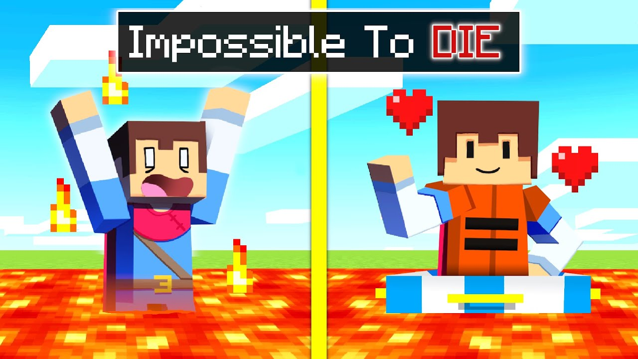 Minecraft But It's IMPOSSIBLE To DIE!