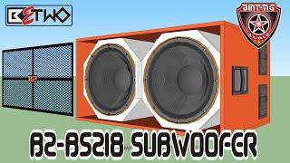 """BOX SPEAKER 18""""SUBWOOFER B2-BS218"""