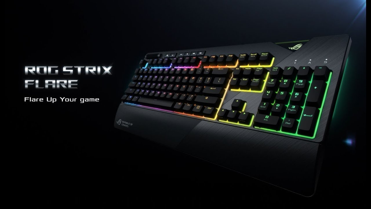 dd76cd1355e ROG Strix Flare - Mechanical Gaming Keyboard with a Customizable Badge | ROG