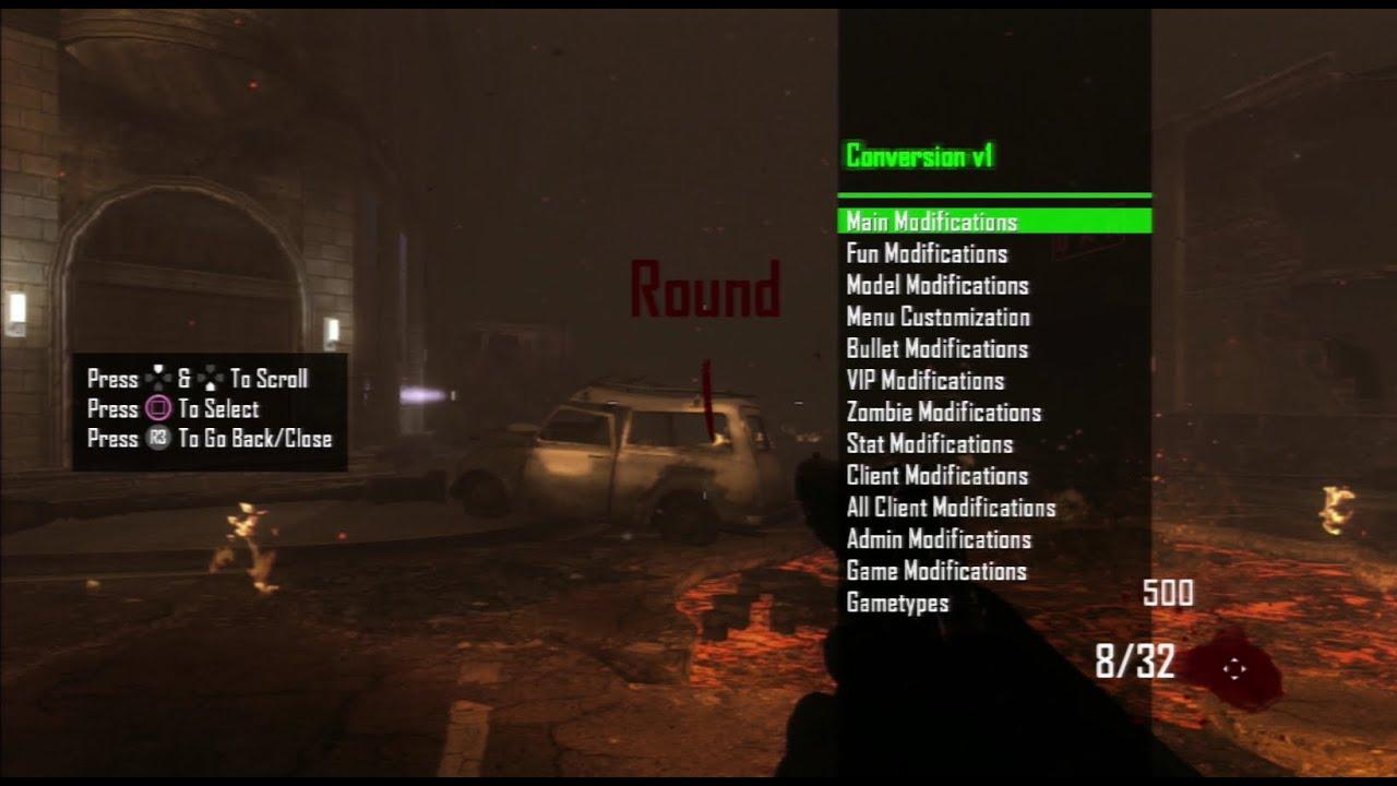 Conversion v1 - 1 19 Black Ops 2 Zombies Menu (GSC