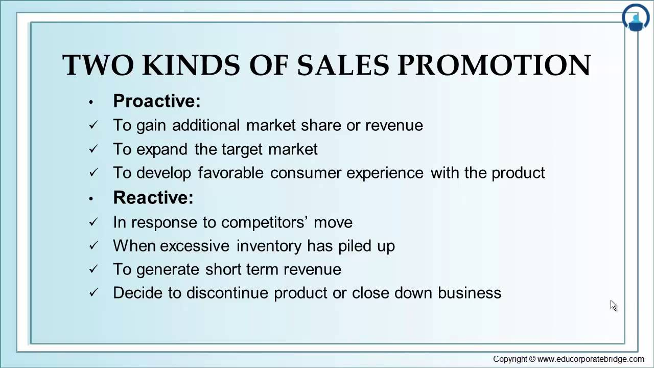 consumer sales promotion activity