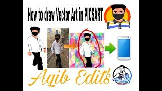 How to make Vector Art on PICSART,How to draw Cartoon Photo!
