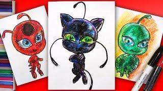 Как нарисовать Плагг Кота Нуара из Леди Баг / MIRACULOUS LADYBUG Drawing Kwami Plugg / Рисования