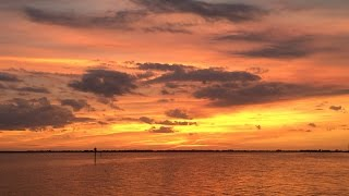 4k UHD Cocoa Beach Sunset Over the Banana River Lagoon