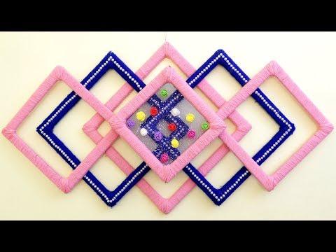 Genius craft Idea out of Wool || DIY Room Decoration || Handmade Things