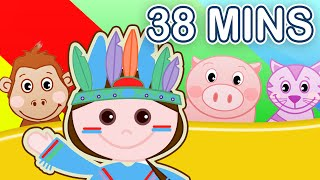 10 Little Indians + More! Nursery Rhymes Compilation   38 MINUTES