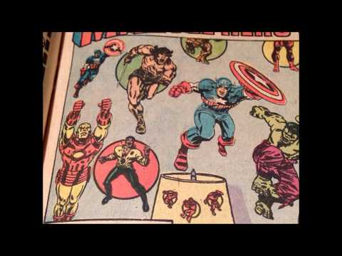 COMIC MAN PRODUCTIONS: MARVEL HERO STICK-ONS COMIC BOOK AD 1974