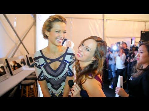 Herve Leger Fall 2013 Backstage: Tips from Petra Nemcova