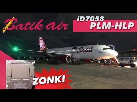 VLOG BATIK AIR ID7058 Palembang to Jakarta Airbus A320 Economy Without IFE
