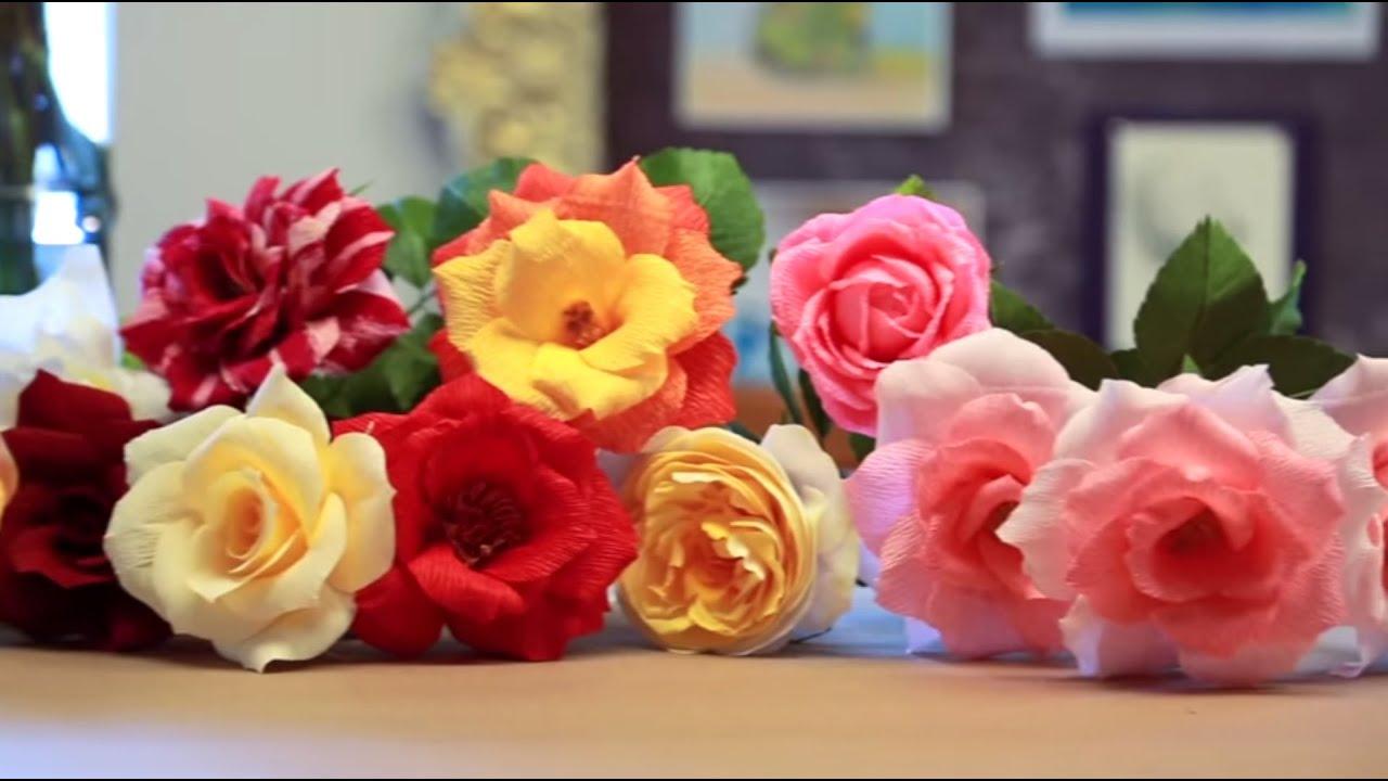 Crepe paper roses tutorial youtube crepe paper roses tutorial mightylinksfo
