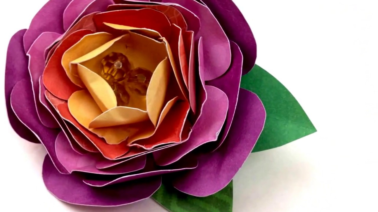 How to make paper flower brooch youtube how to make paper flower brooch mightylinksfo