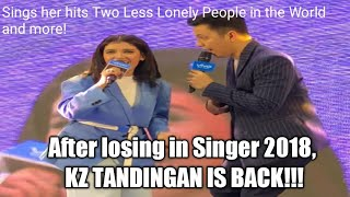 After matalo sa Singer 2018, KZ Tandingan first live performance in the Philippines