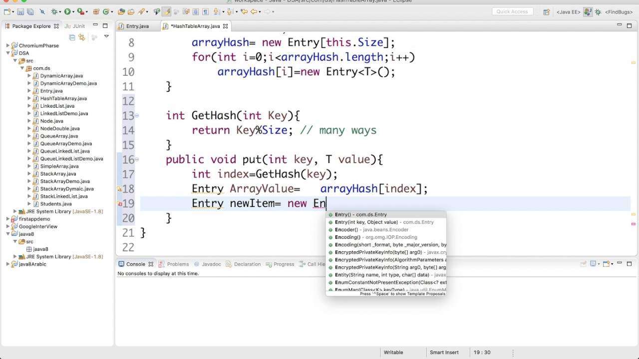 16 Implement Hash Table In Java Youtube