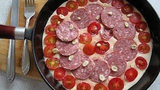 Пицца на сковороде за 20 минут без выпечки/Pizza in a pan for 20 minutes without baking