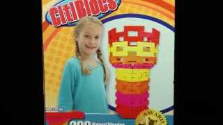 Citiblocs 200 Piece Hot Color Wooden Building Blocks #0bctbsw200